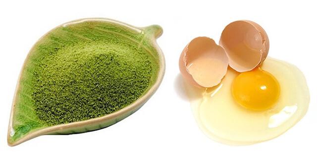 trị nám da bằng trứng gà và trà xanh