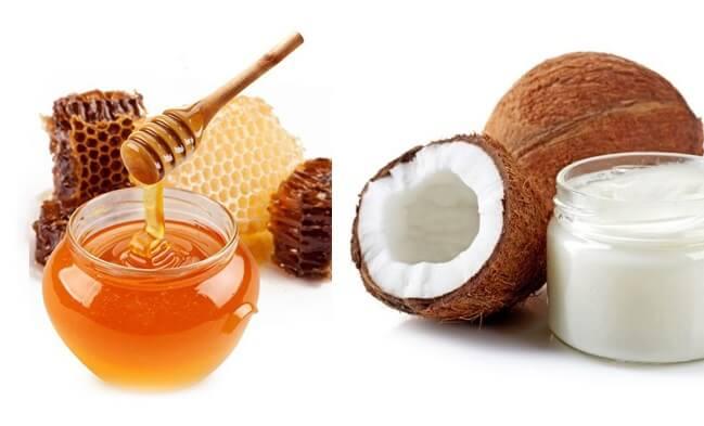 trị nám bằng mật ong và dầu dừa