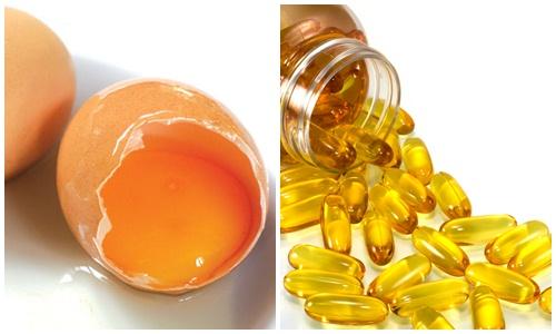 trị nám da bằng trứng gà và vitamin e