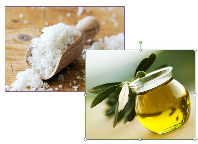 Cách tẩy tế bào chết body bằng muối và oliu