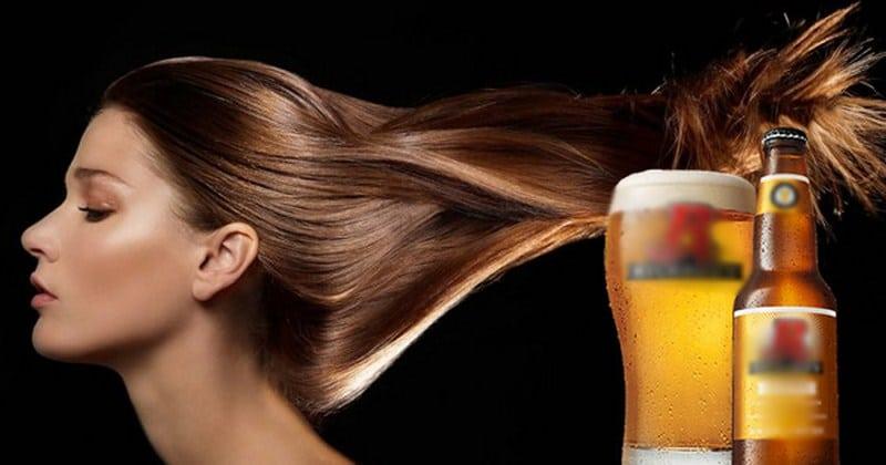 cách giúp tóc nhanh dài bằng bia