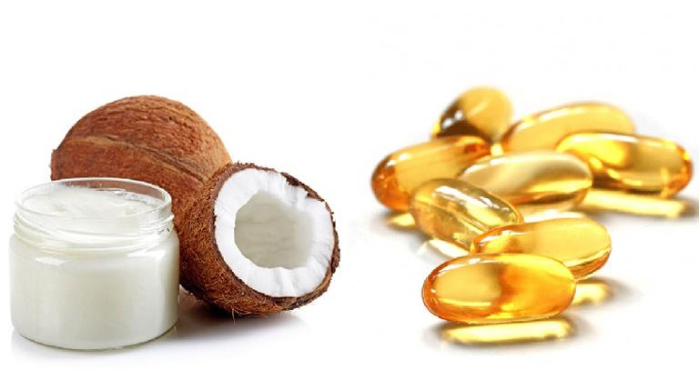 Trị nám da bằng dầu dừa nguyên chất và vitamin E