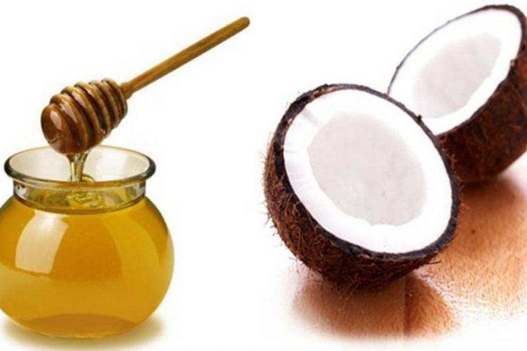 Hết thâm mắt với dầu dừa mật ong