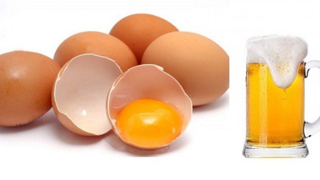 Cách làm tóc nhanh dài bằng bia với trứng