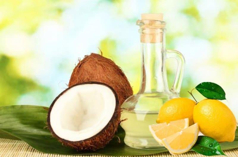 Trị mụn ẩn bằng dầu dừa kết hợp với chanh