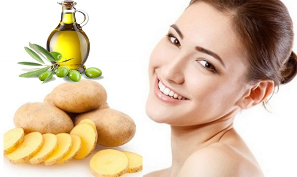 mặt nạ trắng da khoai tây và oliu