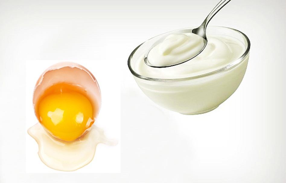 trị thâm mụn tại nhà bằng trứng và sữa chua