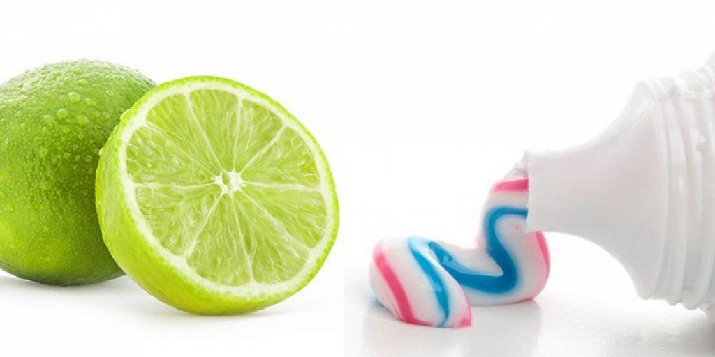 Làm trắng răng bằng chanh và kem đánh răng