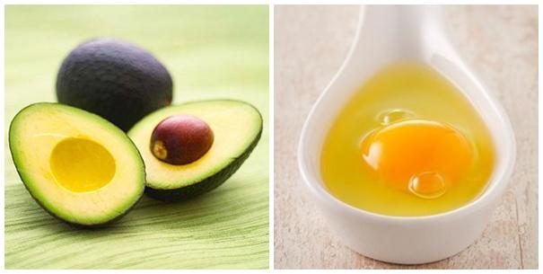 trị thâm mụn bằng trứng và bơ