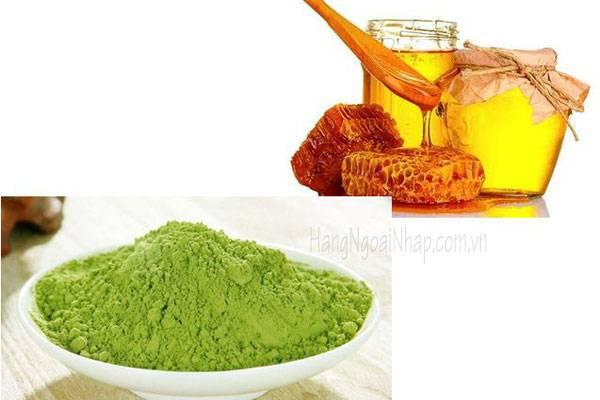 trị thâm mụn hiệu quả bằng mật ong trà xanh